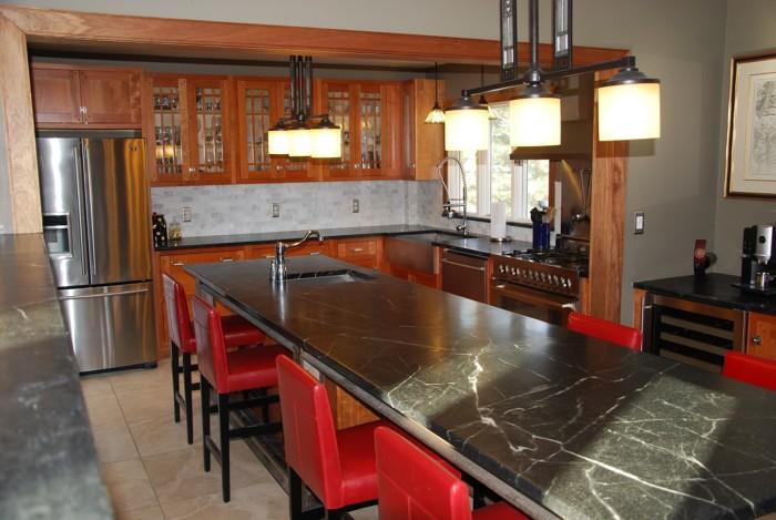 Arts And Crafts Steampunk Kitchen In Prairie Style House