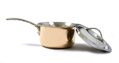 Photo of Eurodib Mini Copper Sauce Pan with Lid View 1