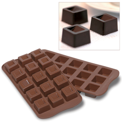 Photo of Silikomart Professional Cubo chocolate mold View 1