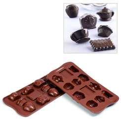 Photo of Silikomart Professional Tea Time Silicone Chocolate Mold View 1