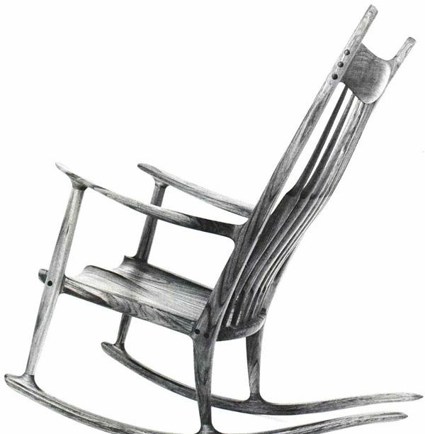 Sensational Sam Maloof How I Make A Rocker Finewoodworking Beatyapartments Chair Design Images Beatyapartmentscom