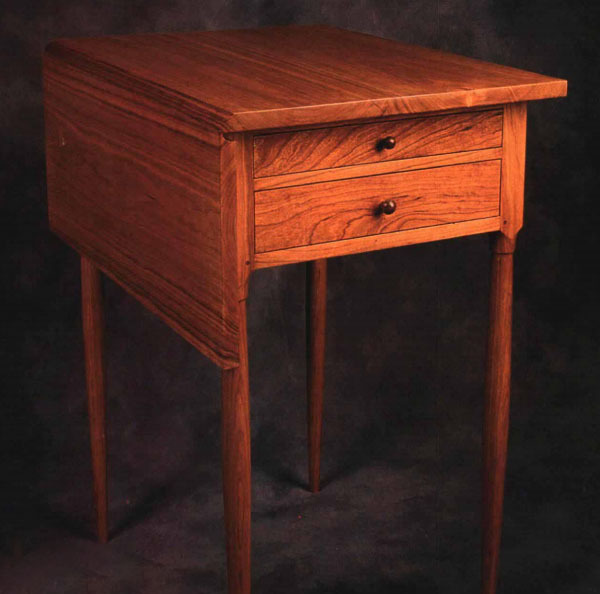 Synopsis: The Table Greg Isaak Built Was Inspired By Several Original Shaker  Pieces, But He Modified It With Sheraton Style Tapered Legs.