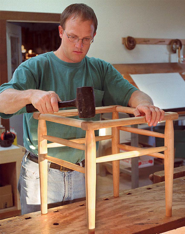 Post And Rung Stool Finewoodworking