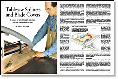 Amazing Tablesaw Splitters And Blade Covers Finewoodworking Download Free Architecture Designs Embacsunscenecom