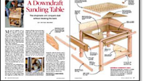 Fantastic A Downdraft Sanding Table Finewoodworking Interior Design Ideas Inesswwsoteloinfo