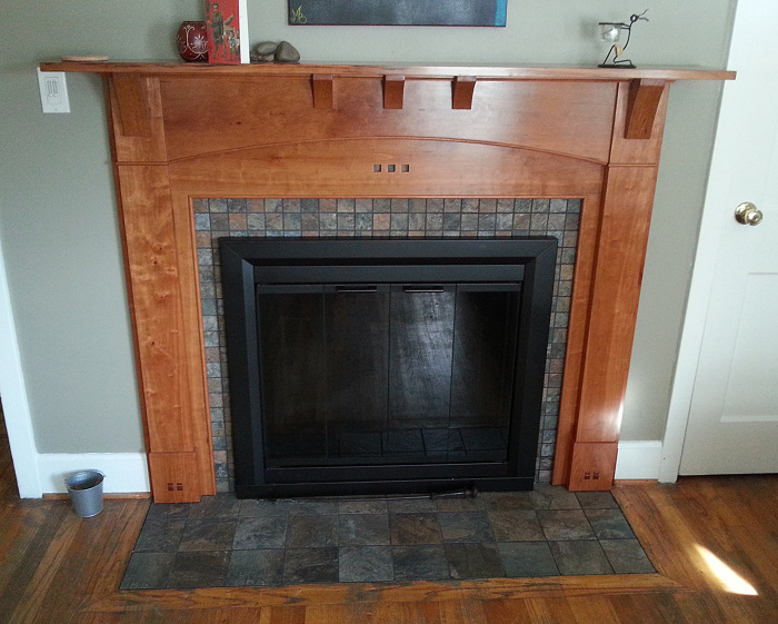 Arts and Crafts fireplace surround - FineWoodworking