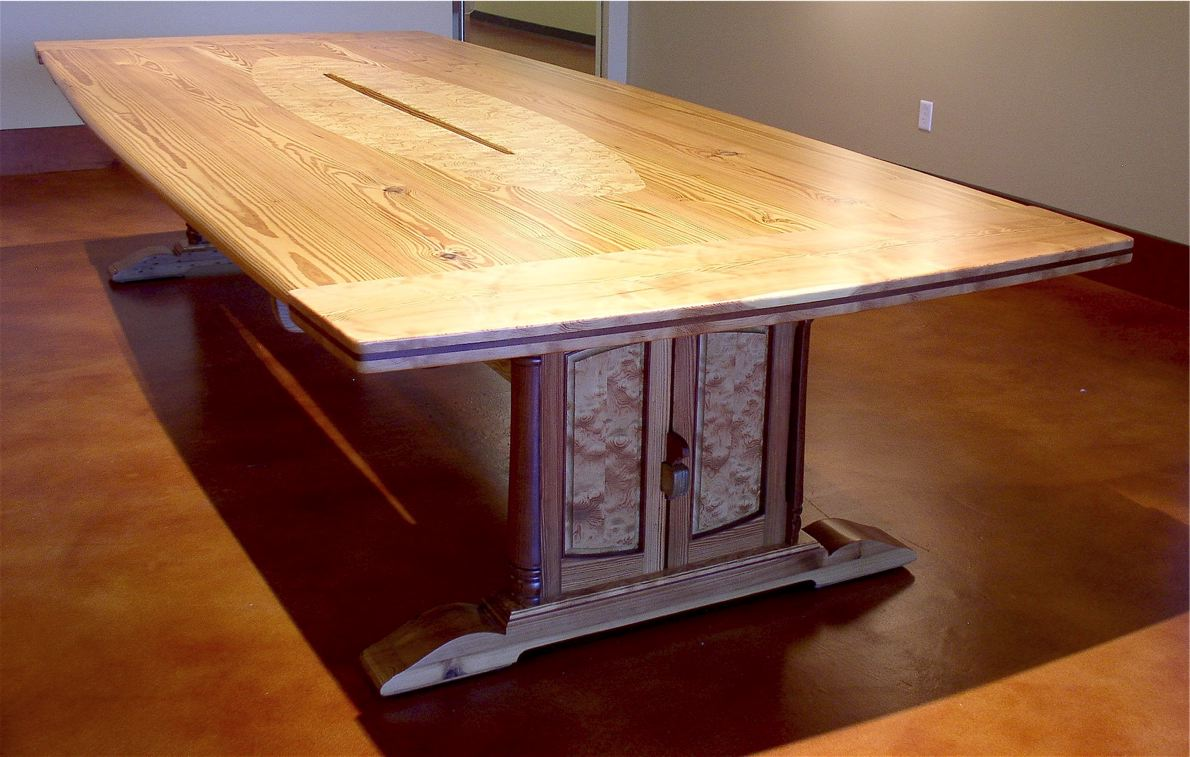 Reclaimed Pine Conference Table FineWoodworking - Conference table plans