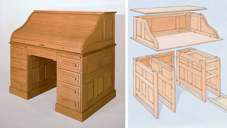Building A Roll Top Desk Finewoodworking
