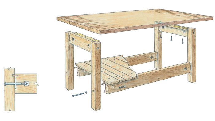 Magnificent An Easy To Build Workbench Finewoodworking Caraccident5 Cool Chair Designs And Ideas Caraccident5Info