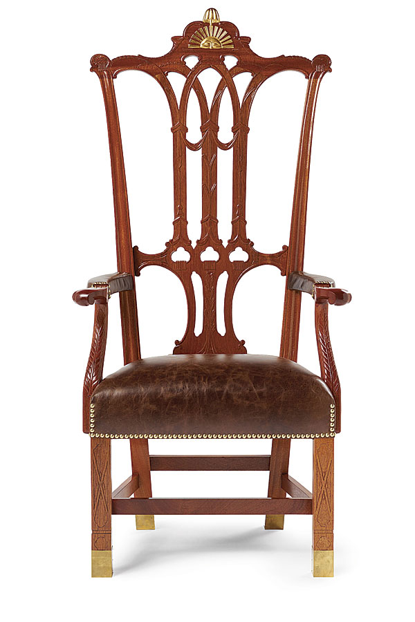 Woodworker: Vincent Chicone. This Is A Reproduction Of The Rising Sun Chair  ...