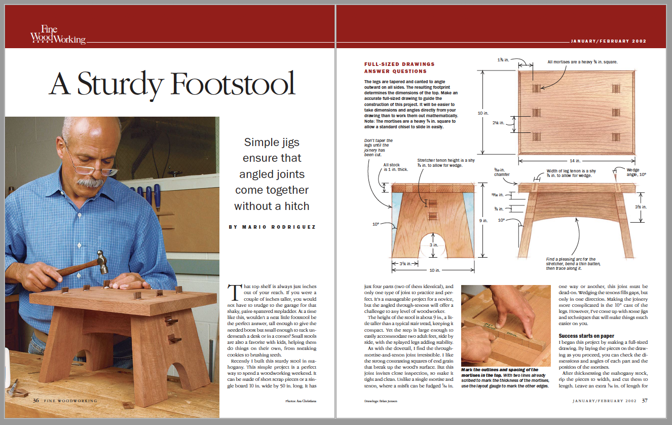 A Sturdy Footstool Spread Image