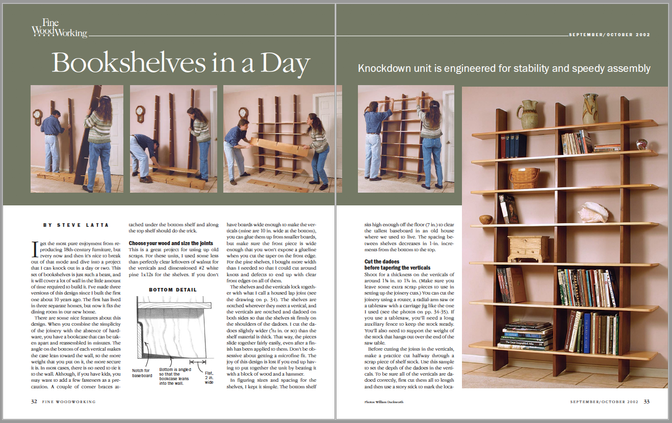 Bookshelves in a Day