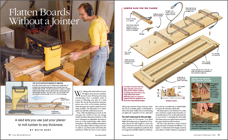 Flatten Boards without a Jointer spread