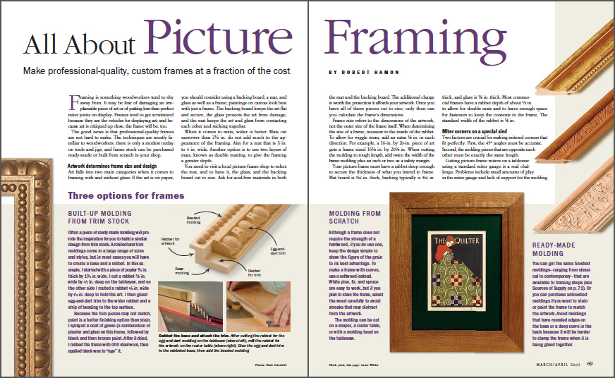 All About Picture Framing spread
