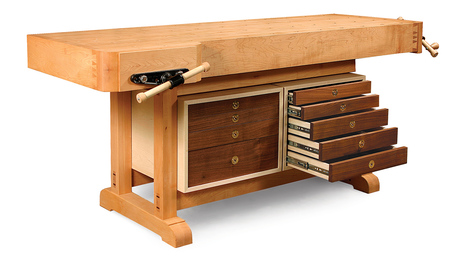 Tool Cabinet for a Workbench