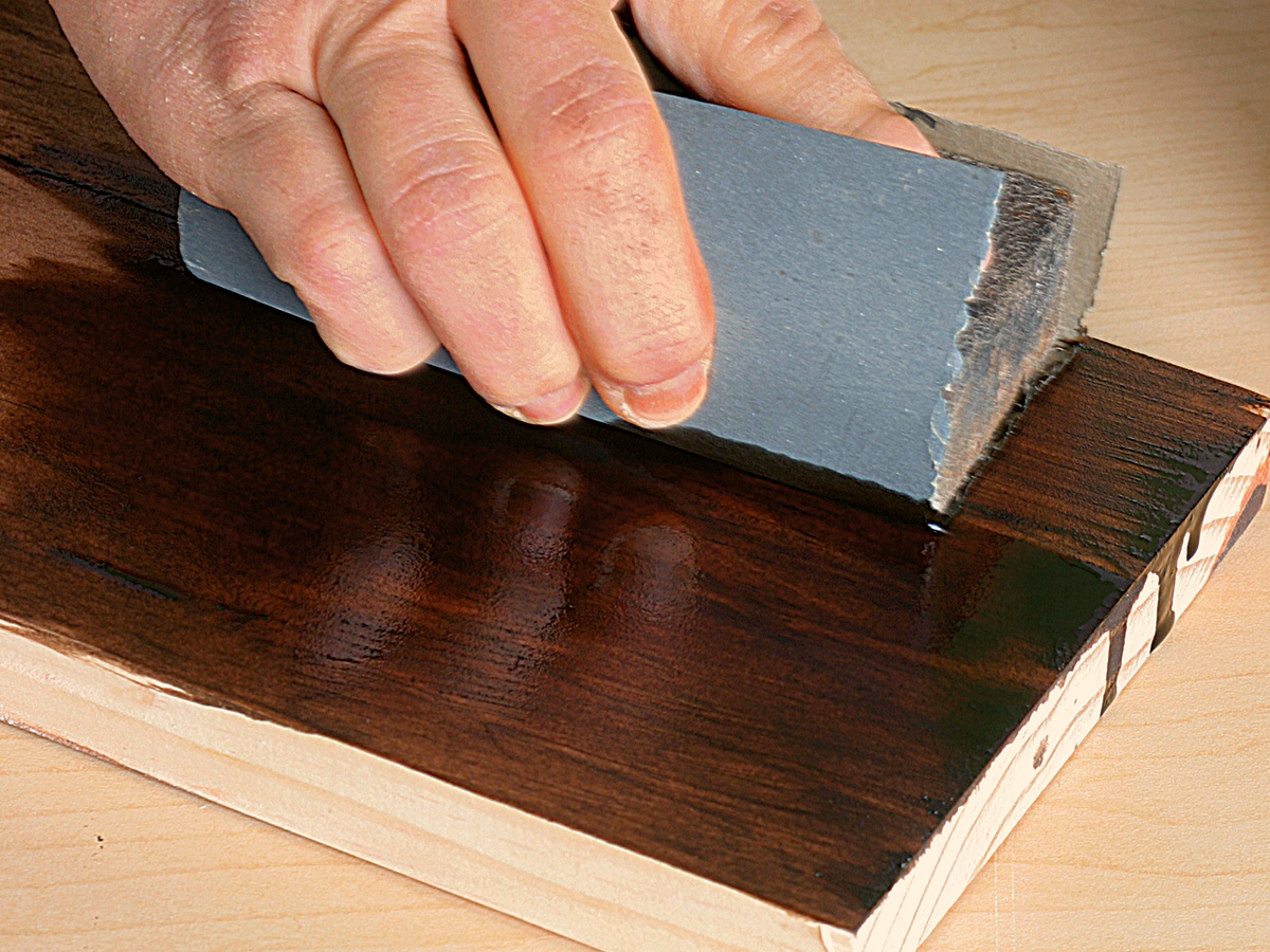 Wetsanding with stain