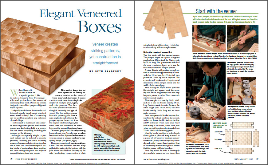 Elegant Veneered Boxes spread