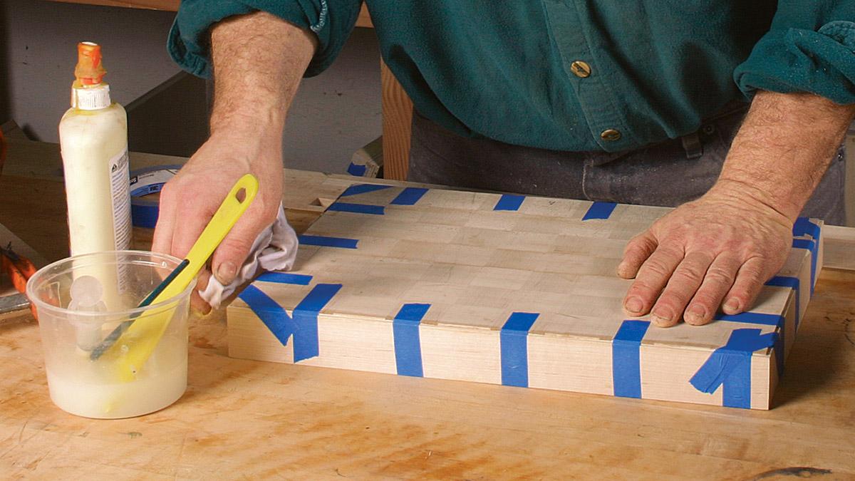 veneering top of box