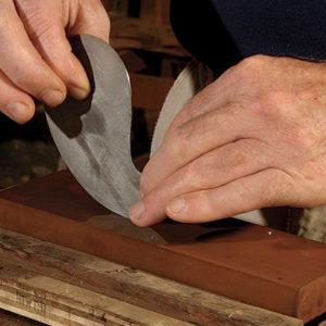 Sharpening A Curved Scraper Finewoodworking