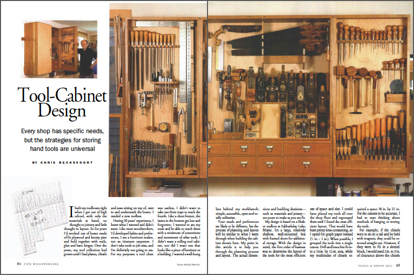 Tool-Cabinet Design spread