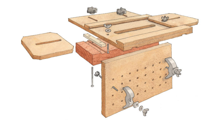 mortise and tenon joint using a homemade mortising jig with Michael Fortune