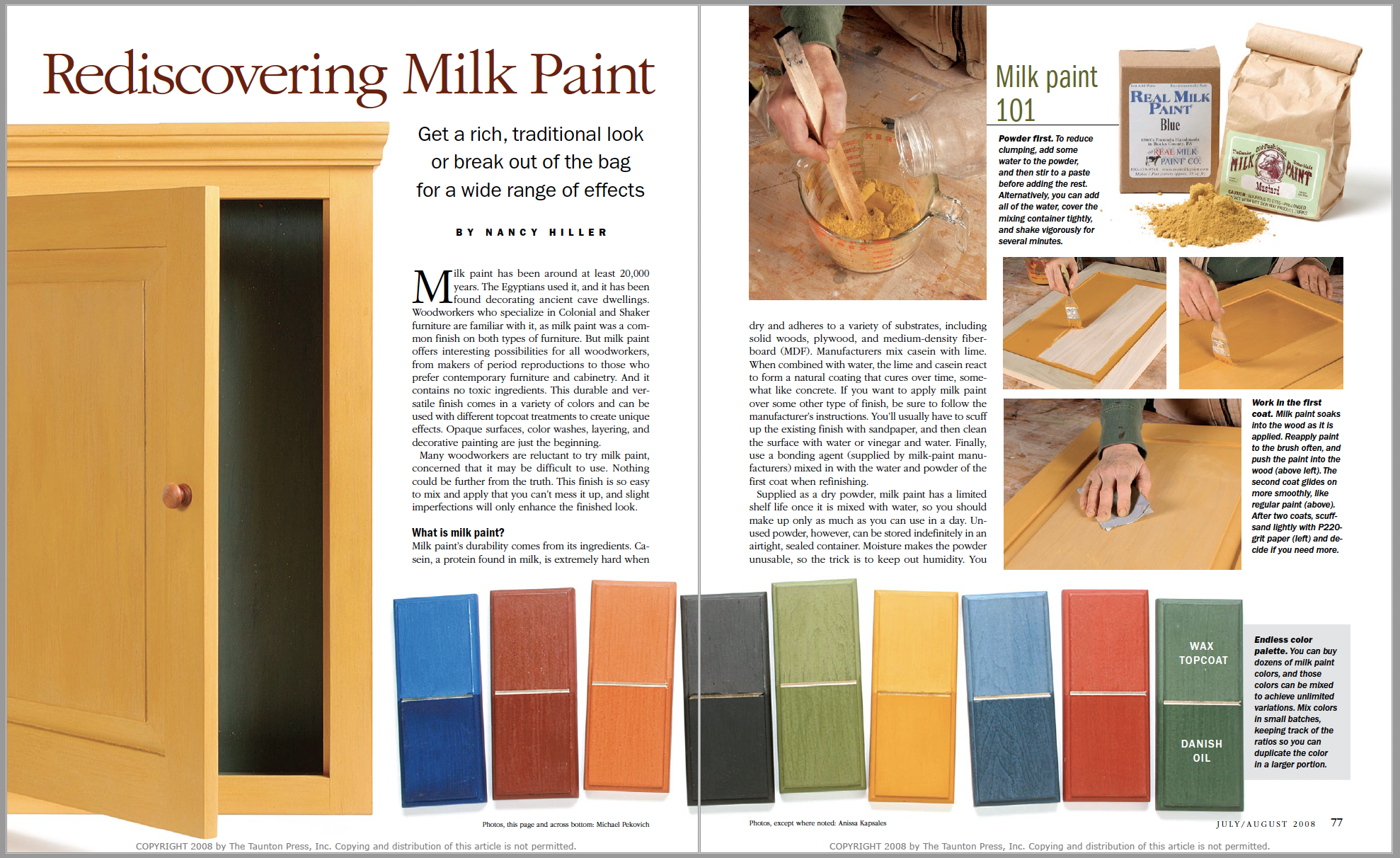 Rediscovering Milk Paint