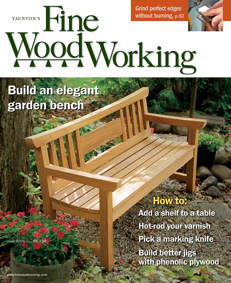 Russell Jensen S Japanese Garden Bench Finewoodworking
