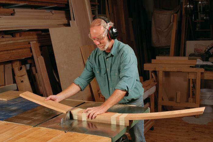 bow-front table cutting