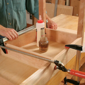 bow-front table assembly