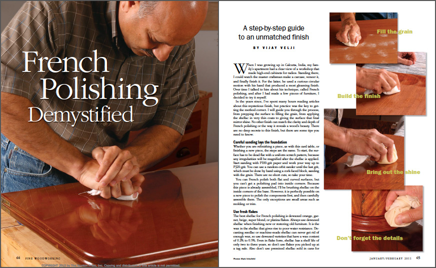 Guide To French Polishing spread