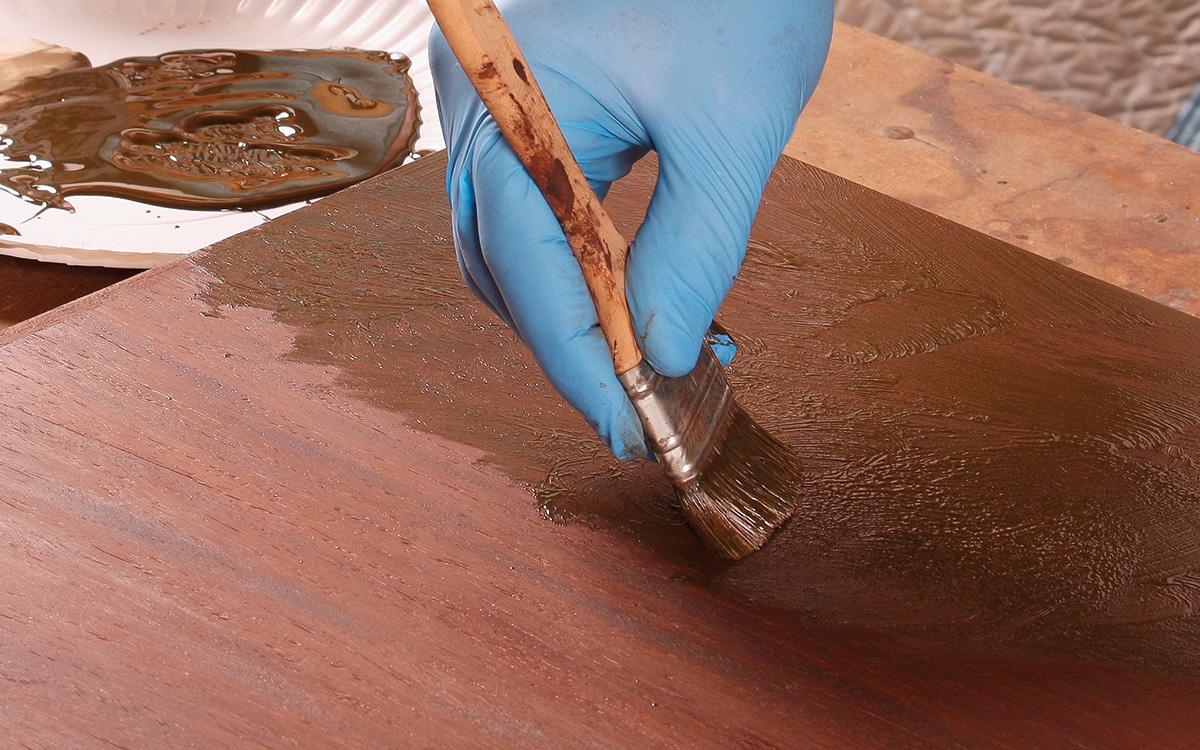 filling wood grain