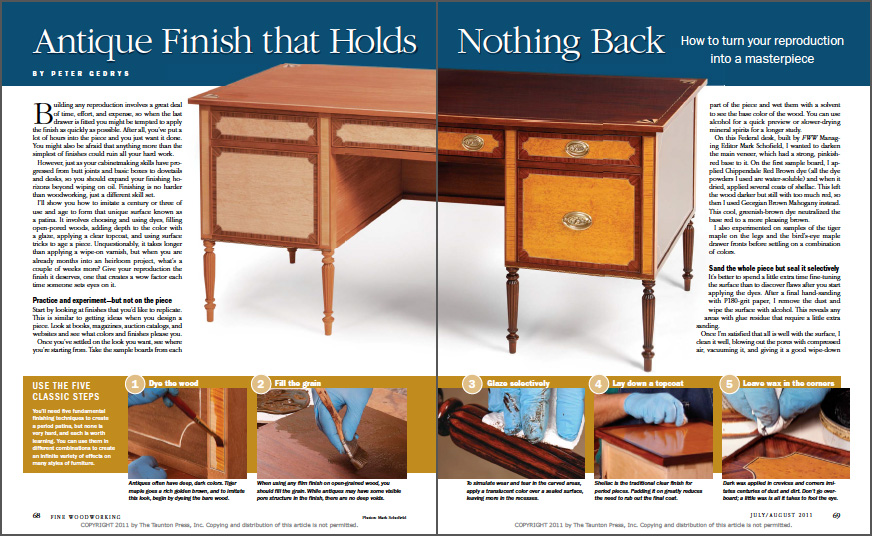 Antique Finish that Holds Nothing Back spread