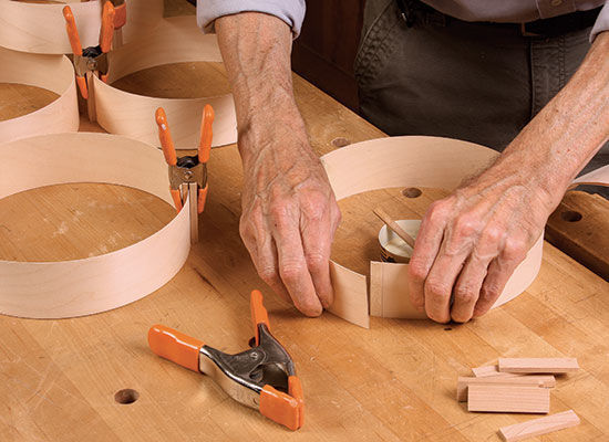 making the lampshade rings