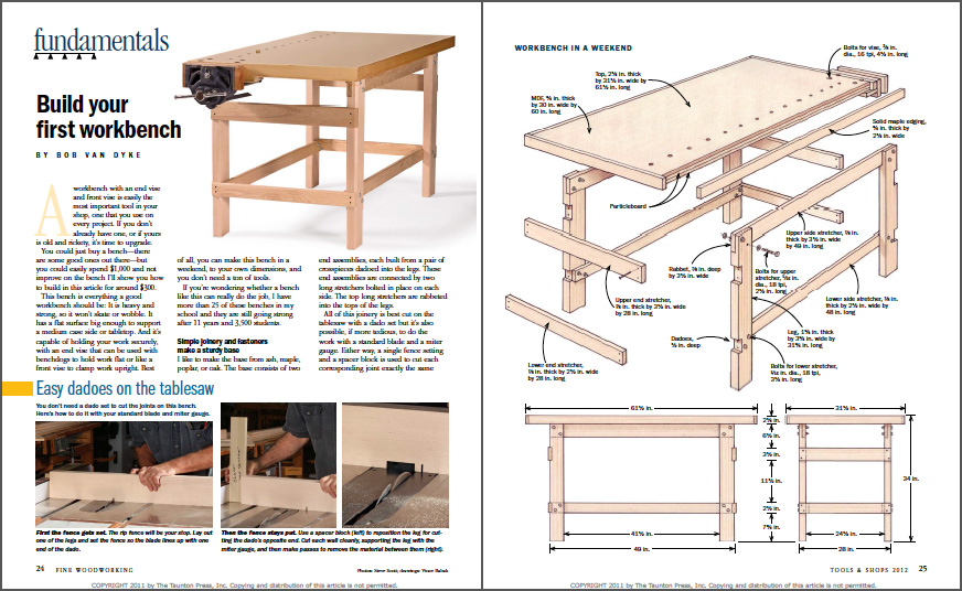 Build Your First Workbench spread