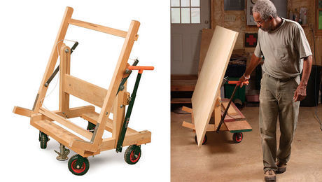 Pivoting Plywood Cart