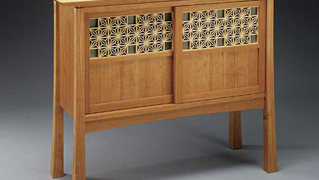 japanese lattice cabinet