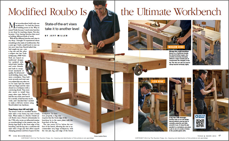Modified Roubo is the Ultimate Workbench spread