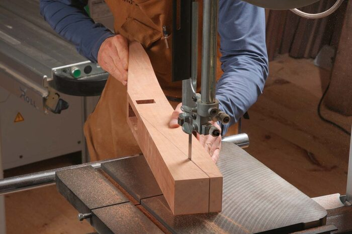 Shape the foot at the bandsaw