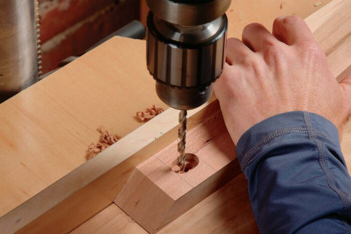 Then drill the clearance hole the same way