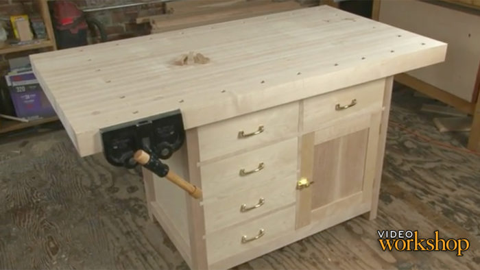Build a Basic Workbench with Built-in Storage - FineWoodworking