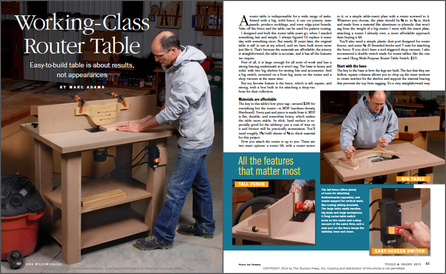 Working-Class Router Table
