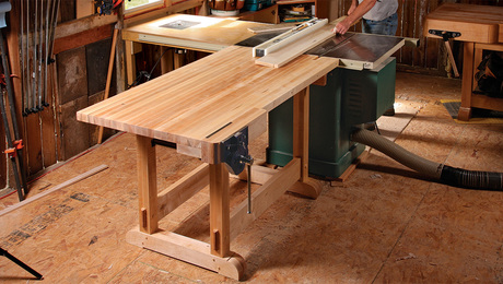 outfeed table workbench