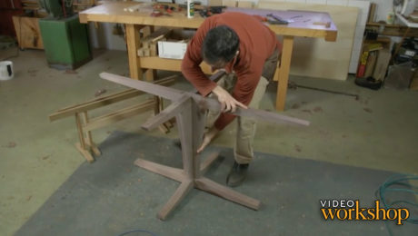 break down the pedestal table's glue-up sequence, tackling one joint at a time