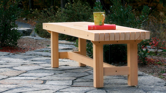 Astounding Cedar Garden Bench Finewoodworking Bralicious Painted Fabric Chair Ideas Braliciousco