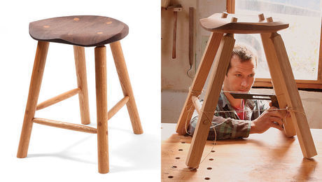 Brilliant Stools Finewoodworking Onthecornerstone Fun Painted Chair Ideas Images Onthecornerstoneorg
