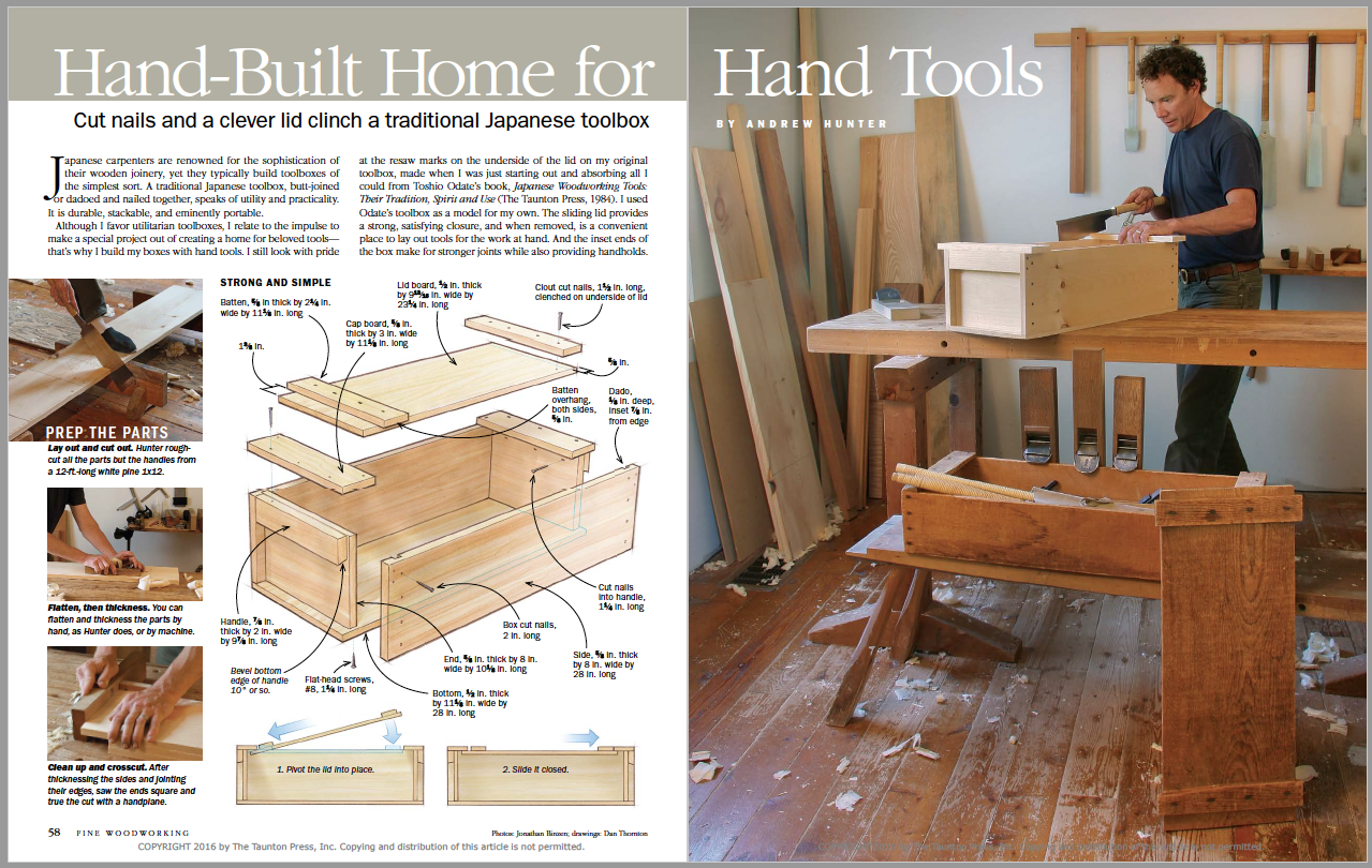 Hand-Built Home for Hand Tools