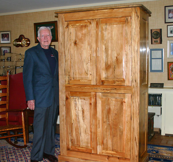 Up For Bid Jimmy Carter S Handmade Cabinet Finewoodworking