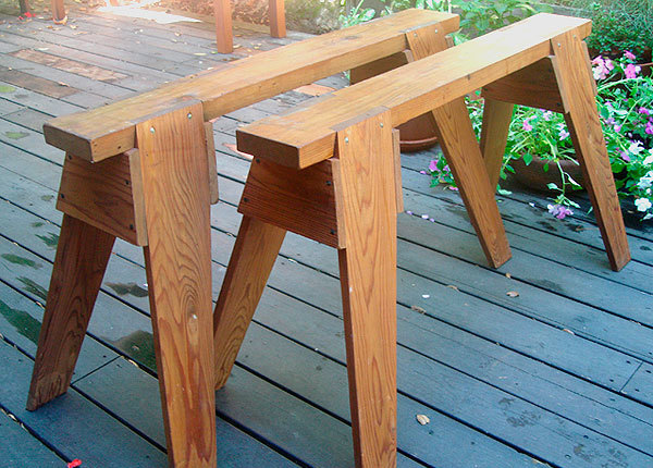 Classic Sawhorse Plans In Detail Finewoodworking