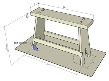 Measured View of Sawhorse