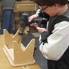 Small bench kids woodworking project plans; woodworking for kids; easy, fun, kid friendly woodworking craft